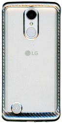 LG Aristo MM Electroplated Carbon Fiber Candy Case Silver