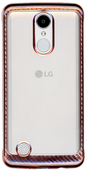 LG Aristo MM Electroplated Carbon Fiber Candy Case Rose Gold