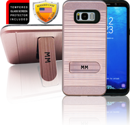 Samasung Galaxy S8 PLUS MM Opal Kickstand Case With Credit Card Rose Gold(Curved Tempered Glass Included)