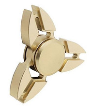Fidget Spinner Three Wing Tri Metal Gold