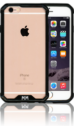 Iphone 6S MM Opal Crystal Armor Black (Tempered Glass Included)