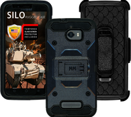 Coolpad Defiant MM Silo Rugged Case Black(Tempered Glass Included)