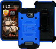 Coolpad Defiant MM Silo Rugged Case Blue(Tempered Glass Included)