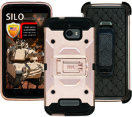 Coolpad Defiant MM Silo Rugged Case Rose Gold(Tempered Glass Included)