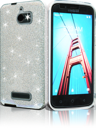 Coolpad Defiant MM Glitter Hybrid Silver