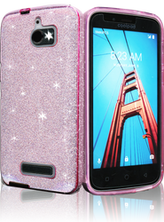 Coolpad Defiant MM Glitter Hybrid Pink