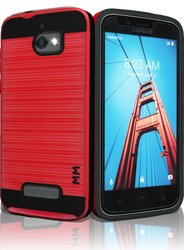 Coolpad Defiant MM Slim Dura Metal Finish Red