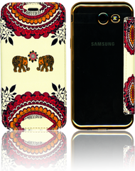 Samsung J3 Emerge MM Clear Design Diary Wallet Pink Elephant