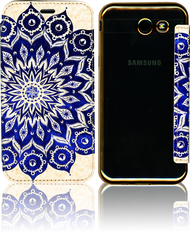 Samsung J3 Emerge MM Clear Design Diary Wallet Native Blue