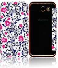 Samsung J3 Emerge MM Clear Design Diary Wallet Pink Floral