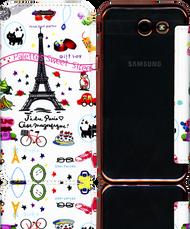 Samsung J3 Emerge MM Clear Design Diary Wallet Eiffel Tower