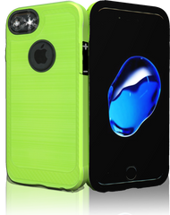 Iphone 7 MM Metal Carbon Fiber lime Green
