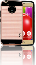 Motorola E4 MM Slim Dura Metal Finish Rose Gold