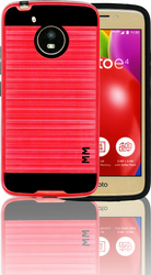 Motorola E4 MM Slim Dura Metal Finish Red