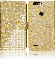 Zte Z982/Blade MM Jewel Diagonal Wallet Gold