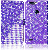 Zte Z982/Blade MM Jewel Diagonal Wallet Purple
