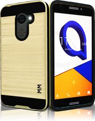 Alcatel A30 Fierce  MM Slim Dura Metal Finish Gold