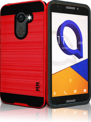 Alcatel A30 Fierce  MM Slim Dura Metal Finish Red