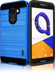 Alcatel A30 Fierce  MM Slim Dura Metal Finish Blue