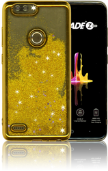 ZTE Blade MM Electroplated Water Glitter Case With Stars Gold