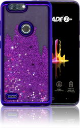 ZTE Blade MM Electroplated Water Glitter Case With Stars Purple