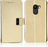 Alcatel A30 Fierce MM Premium Folio Wallet Gold