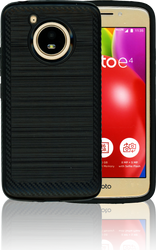 Motorola E4 Carbon Fiber Metal Black