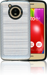 Motorola E4 Carbon Fiber Metal Silver