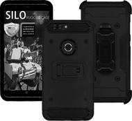 ZTE Blade MM Silo Rugged Case Black(Full Covered Tempered Glass Included)