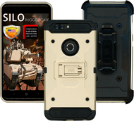 ZTE Blade MM Silo Rugged Case Gold(Full Covered Tempered Glass Included)