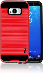 Samsung Galaxy S8 PLUS MM Slim Dura Metal Finish Red