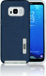 Samsung Galaxy S8 MM Opal Slim Case Navy Blue(Curved Tempered Glass Included)
