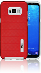 Samsung Galaxy S8 PLUS MM Opal Slim Case Red(Curved Tempered Glass Included)