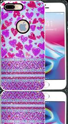 Iphone 7 PLUS/8 PLUS MM 3D Purple Hearts