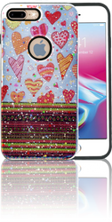 Iphone 7 PLUS/8 PLUS MM 3D Chevron Heart