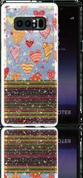 Samsung Note 8 MM 3D Chevron Heart