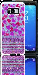 Samsung Galaxy S8 MM 3D Purple Hearts