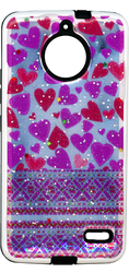 Motorola E4 MM 3D Purple Hearts