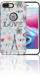 Iphone 7/8  MM 3D Paris Hearts