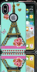 Iphone X  MM 3D Paris Flower