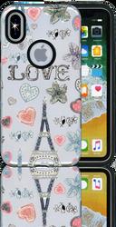 Iphone X  MM 3D Paris Hearts
