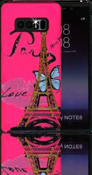 Samsung Galaxy Note 8 MM 3D Paris Butterfly