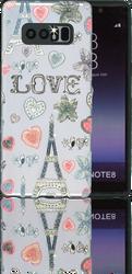 Samsung Galaxy Note 8 MM 3D Paris Hearts
