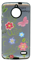 Motorola E4 MM 3D Flower Butterfly