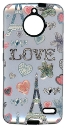 Motorola E4 MM 3D Paris Hearts