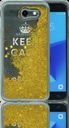 Samsung Galaxy J3 Emerge MM Water Glitter Keep Calm & Sparkle