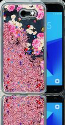 Samsung Galaxy J3 Emerge MM Water Glitter Flowers