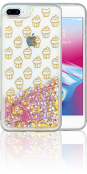 Iphone 7 PLUS/8 PLUS  MM Water Glitter Cup Cake