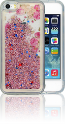 Iphone 5/5S/SE  MM Water Glitter Flowers