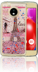 Motorola E4  MM Water Glitter Paris
